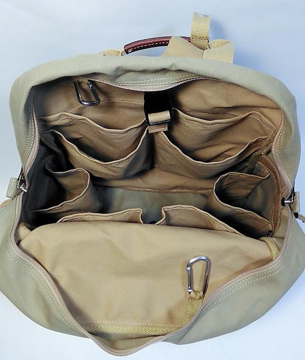 大容量、ポケットたくさんのマザーズリュック オーダーメイド内部