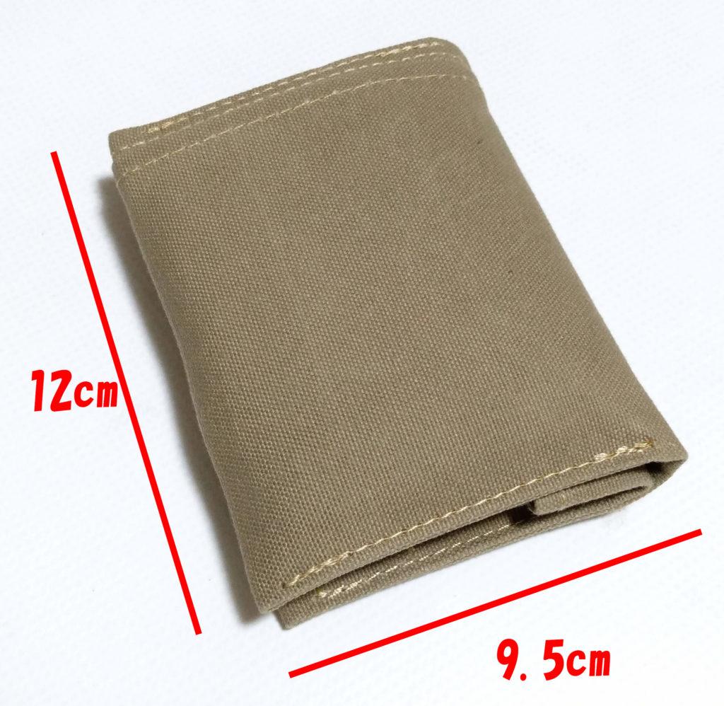 綿帆布シンプルな二つ折り財布